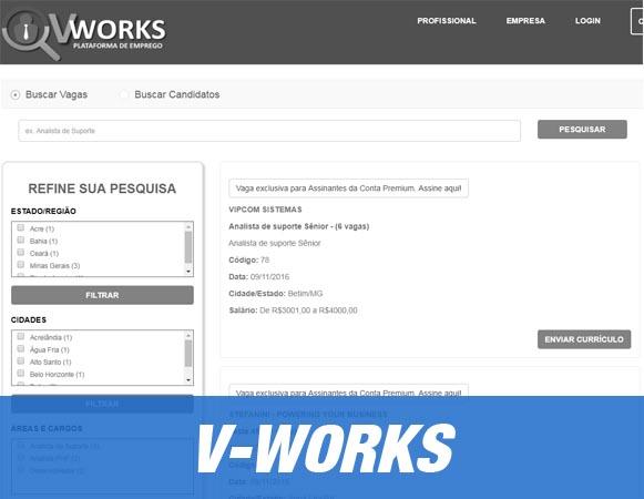 Crie um site de classificados de empregos
