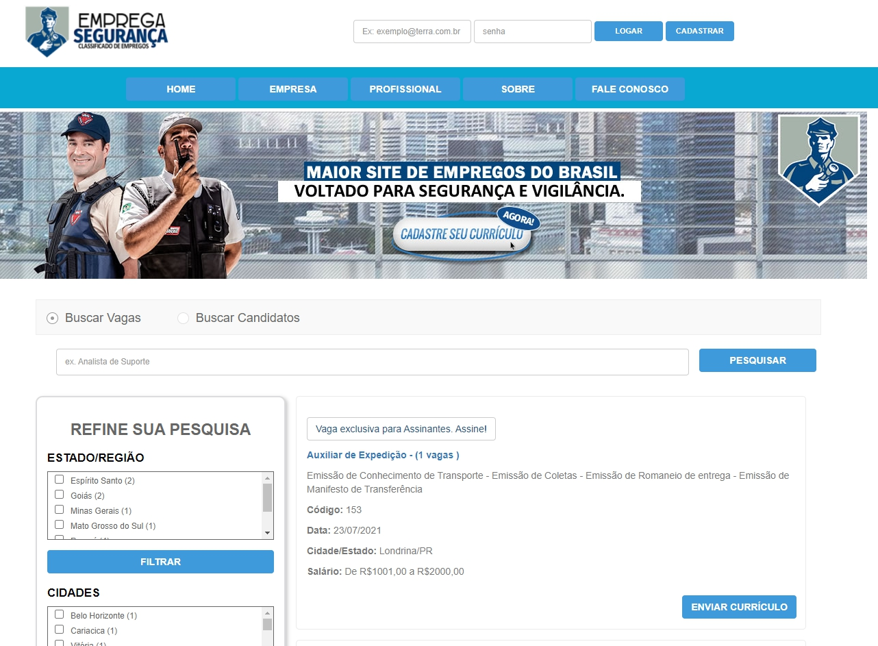 http://www.empregaseguranca.com.br
